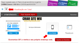 Site Wix mobile