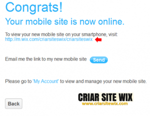 Site mobile publicado