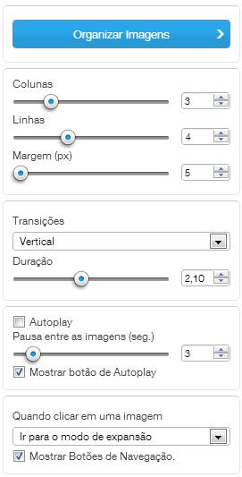 Configuração Galeria GRID ANIMADA