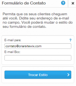 Inserindo Email