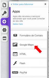 Selecionando App Google Maps