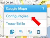 Configurações do Mapa