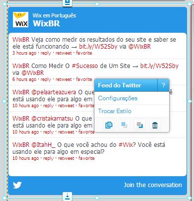 como colocar twitter no wix