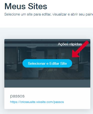 acessar site wix