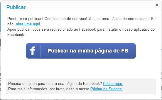 publicar site facebook