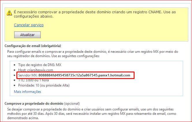 wix email criar site wix