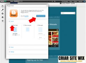 criar blog no wix