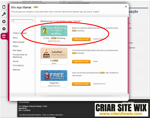 criar email marketing