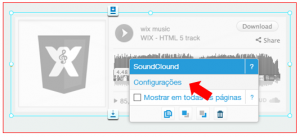 Wix musica soundcloud