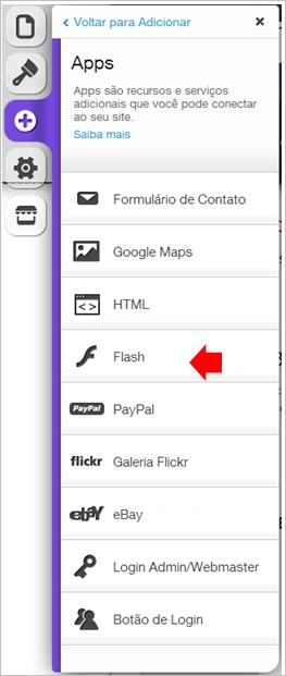 arquivo flash wix