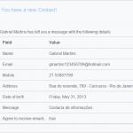 Exemplo de email de enviado
