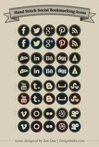 Free-Hand-Stitch-Social-Bookmarking-Icons-Set