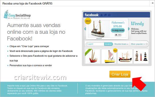 3ce473c9f criar loja facebook gratis - Criar Site Wix